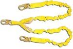 Shock Absorbing Lanyards - Dual Leg Elastic Tubular (100% Tie-Off) 420AS