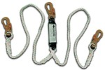 Shock Absorbing Lanyards - Dual Leg Rope & Wire Rope Pack-Style (100% Tie-Off) 430A