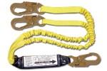 Shock Absorbing Lanyards - Dual Leg Elastic Pack-Style (100% Tie-Off) 440AS