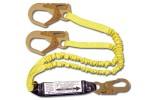 Shock Absorbing Lanyards - Dual Leg Elastic Pack-Style (100% Tie-Off) 442ASN