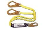 Shock Absorbing Lanyards - Dual Leg Elastic Pack-Style (100% Tie-Off) 442AS