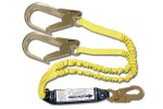 Shock Absorbing Lanyards - Dual Leg Elastic Pack-Style (100% Tie-Off) 447AS-135A