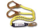 Shock Absorbing Lanyards - Dual Leg Elastic Pack-Style (100% Tie-Off) 447AS