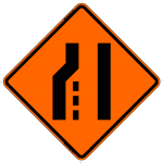 Merge Right (Symbol) W4-2 Work Zone Warning Sign