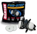 Pro-Step Professional Series Half-Mask Silicone Rubber Respirator Kit with Replaceable OV/P95 Cartridges