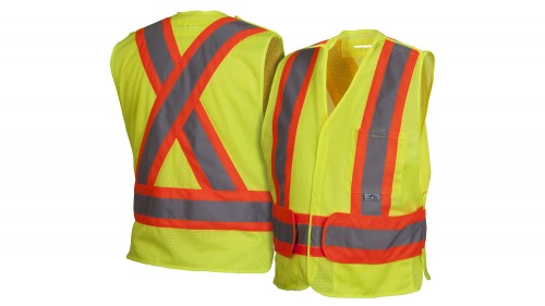 RCA2710SEX2 Self Extinguishing Lime Safety Vest