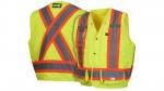 RCMS2810 Lime Safety Vest