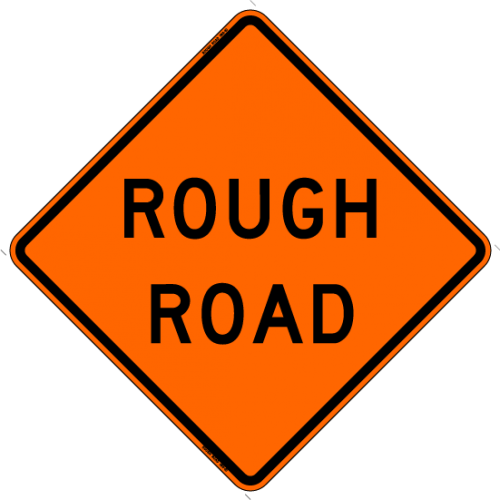 Rough Road W8-8 Work Zone Warning Sign
