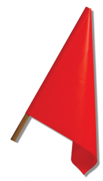 SafeZone Series Wooden Dowel Flags Traffic Control Accessories